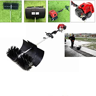 Sweeper Machine, 52CC Walk Behind Cleaning Machine Hand Held Broom Sweeper 2.3HP Gas Powered Sweeper Broom Hand Held for Concrete Driveway Lawn Garden, 2-Strock, 52cc