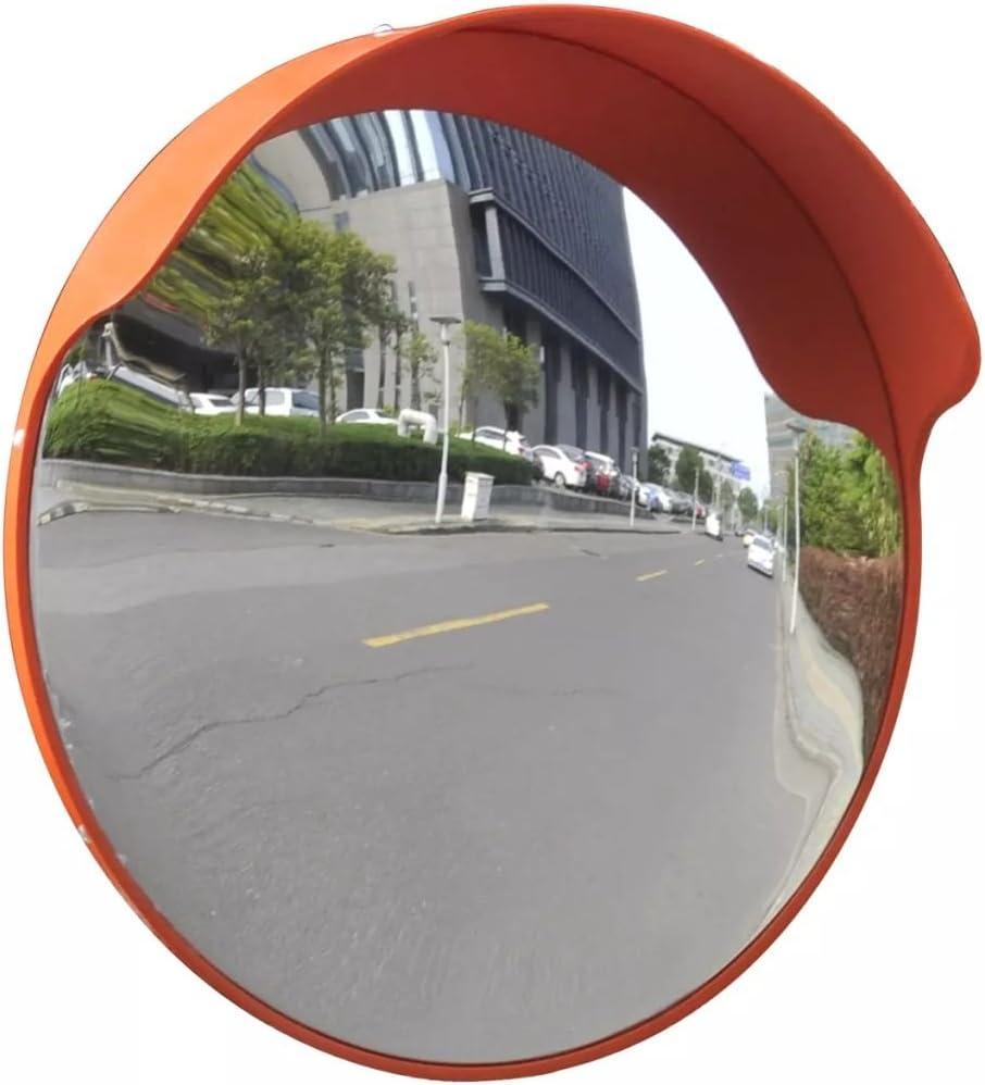 Vidaxl Verkehrsspiegel Sicherheitsspiegel Panoramaspiegel Überwachungsspiegel Konvex Pc Kunststoff Schwarz 60 Cm Outdoor Auto