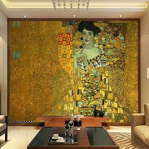 MIYCOLOR Porträt von Adele Bloch-Bauer I Fototapeten Gustav Klimt Malerei Kunst Tapete Individuell Große Fototapete Schlafzimmer Arbeitszimmer Dekor-350x245