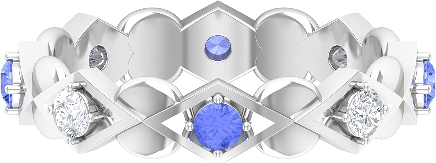 3 4 CT Tanzanite and Diamond Art 2021 model Sale price Band Qualit Deco Gold Ring AAA