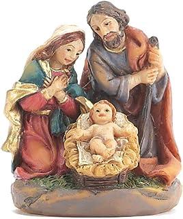 Dicksons Holy Family Kneeling 1.5 x 1.75 Resin Stone Christmas Nativity Scene Figurine