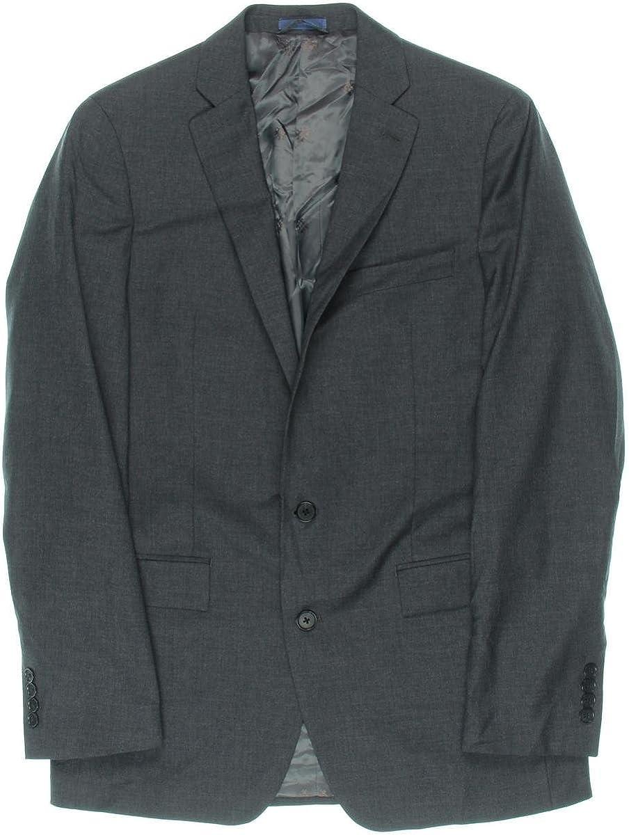 Ryan Seacrest Mens Peak Lapel Two Button Blazer Jacket