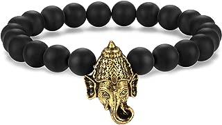 Ganesh (Ganesha) Hindu God of Success and Prosperity Energy Beads Bracelet 8mm