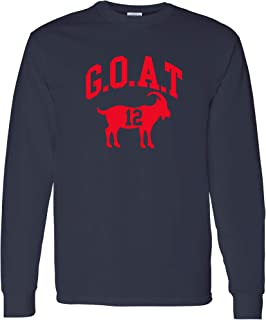 Goat Greatest of All Time New England Football Long Sleeve T Shirt