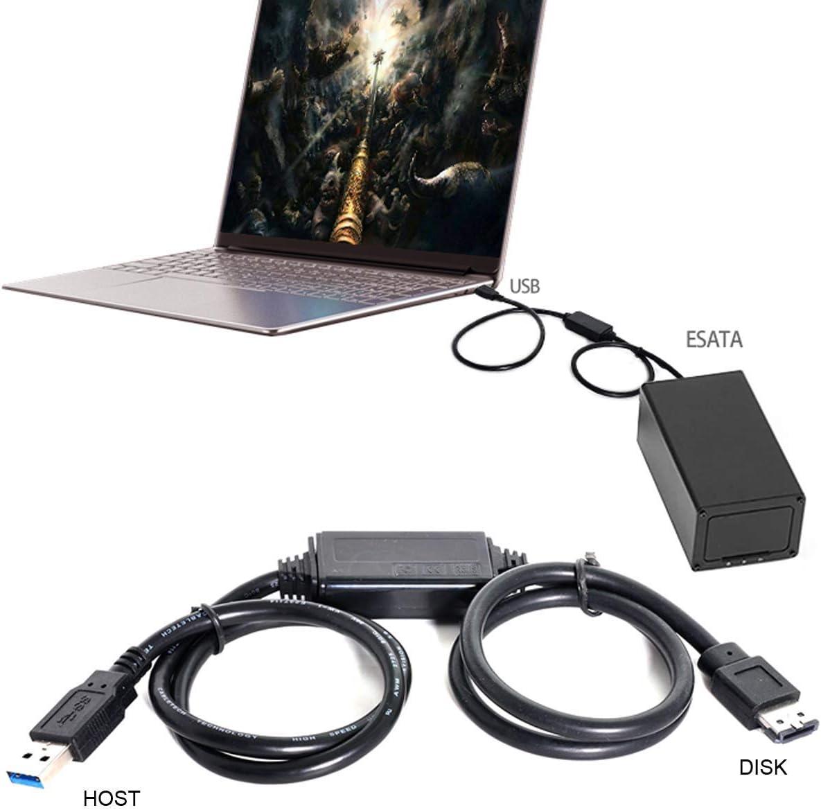 SSD CY USB 3.0 zu eSATA Adapter USB zu HDD ODD Konverter eSATA zu USB Kabel