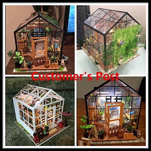 Rolife Miniatur Puppenhaus Küche Kits mit Licht DIY Holz Mini Haus Modell Erwachsene-Kinder 14 15 16 17 18 Jahre Alt (Cathy s Flower House)