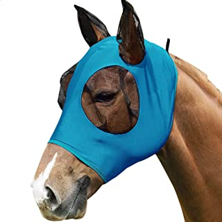 Horse Fly Mask for Horses, Horse Mask with Ears, Used for Large Horses Mask Can Be Easily Worn on The Horse's Head, Summer...