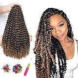 7 Packs Passion Twist Cheveux 18 Pouces Crochet Tresses pour Passion Twist Crochet Cheveux Vague Eau ShowJarlly Passion Twist Tressage Extensions de Cheveux (18inch(46cm), T1B#27)