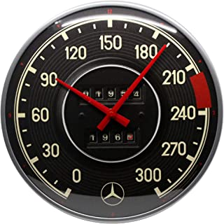 Nostalgic-Art Mercedes-Benz-Tacho Reloj de Pared, carbón, 31 cm