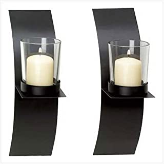ifavor123 Votive Candle Holder Wall Sconce Plaque House Warming Home Deco (Set of 2)