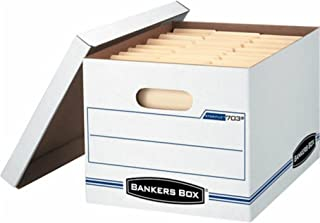 Bankers Box 703 Letter / Legal 10x12x15 Basic-Duty Storage & File Boxes w/ Lift-Off Lids (Pack of 10)