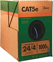 Cat5e Cable Plenum Blue 1000ft