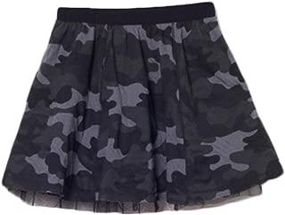 Girls Camouflage Skirt, Tutu Dress Camo Reversible Summer Dancing for Toddler Baby Girl- Black,US Size 3t - 12