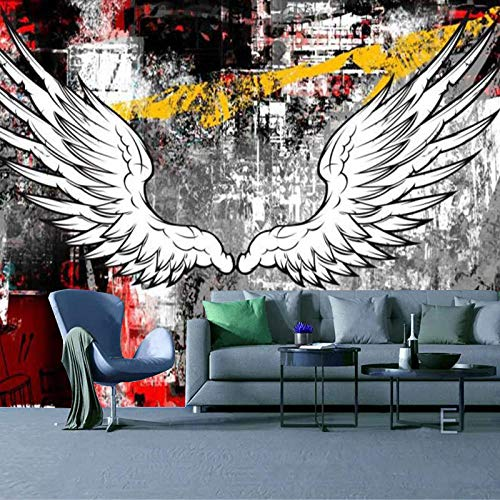 RTYUIHN 3D Wallpaper Mural 3D Stereo Wings Bedroom Living Room Modern Wall Art Decoration