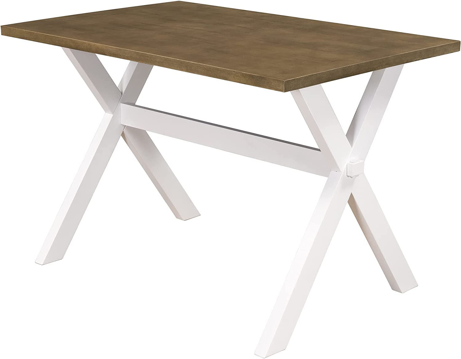 Dining Table with Ranking Max 78% OFF TOP12 X-Shape Legs Brown White