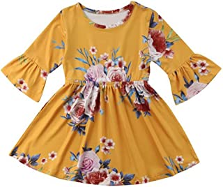 WOCACHI Infant Kids Girls Baby Vestidos Floral Bohemian Beach Straps Dresses