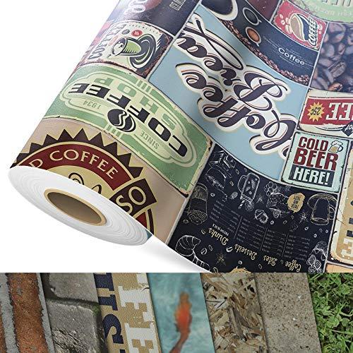 CV Bodenbelag Coffee Time - extra abriebfester PVC Bodenbelag (geschäumt) - Foto-Druck Coffee Time - Oberfläche strukturiert - Meterware (200x400 cm)