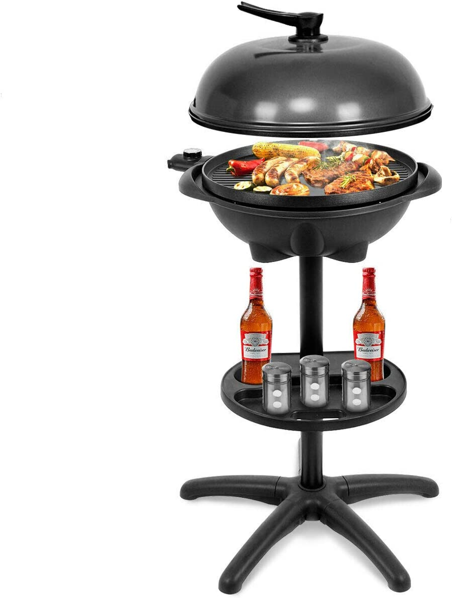 WWX Electric BBQ Max 82% OFF Grill Limited price sale 1350W Non-Stick Temperature Setting 4 Out