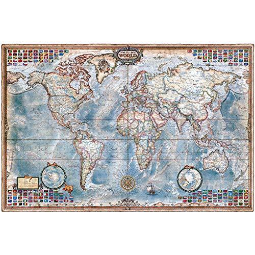 Puzzel Voor Volwassenen, 1000/1500/2000/4000 Stuks, Wereldkaart Administratieve Versie, Volwassen Houten Creatieve Decompressie Kinderspeelgoed -P4.15 (Size : 1500 pieces)