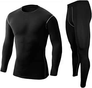 LANBAOSI Compression Wear Under Base Layer Running Workout Vest & Shorts Set
