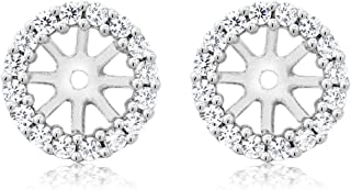 925 Sterling Silver Women's Earring Jackets for 7.00MM Round Shape Studs