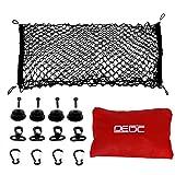 DEDC Auto Gepäcknetz, Universal Kofferraumnetz Schutznetz Elastisch Kofferraum Aufbewahrung Netz aus Nylon 90x30cm für meisten Fahrzeugtypen mit Aufbewahrungstasche