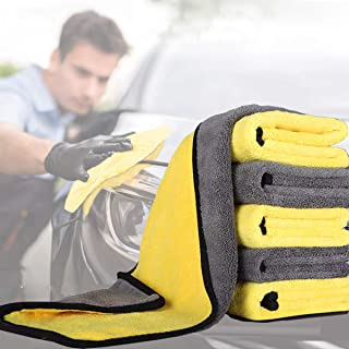 Dry Towel for Cars, (6PCS)Microfiber Extra Thick Cleaning Cloths,Car Drying Towel Scratch-Free Car Detailing Buffing Polis...