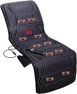 ECO-DE Tapis de massage 8 vibromoteurs, 4 zones de massage, 3 niveaux d'intensité, 5 modes et avec chaleur lombaire