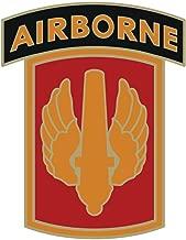 USAMM Army 18th Fires Brigade with Airborne Tab Veteran Unit Sticker