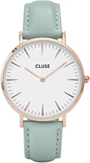 CLUSE Womens Analogue Classic Quartz Connected Wrist Watch with Leather Strap CL18021
