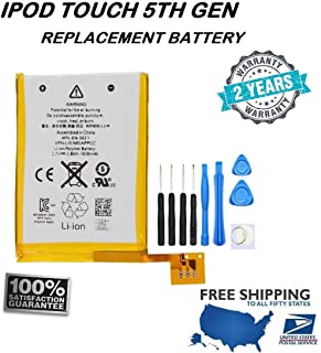 New Internal Replacement Battery Compatible for iPod Touch 5th Generation + Free Toolkit, Stalion Strength Li-Polymer Battery 1030mAh 3.7V for iPod Touch 5 Batería de repuesto
