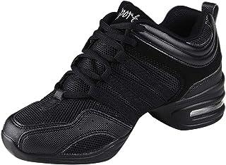 984611d5b4e705 uirend Chaussures de Sport Danse Femme - Maille à Lacets Gym Respirant  Antidérapant Mode Baskets Moderne