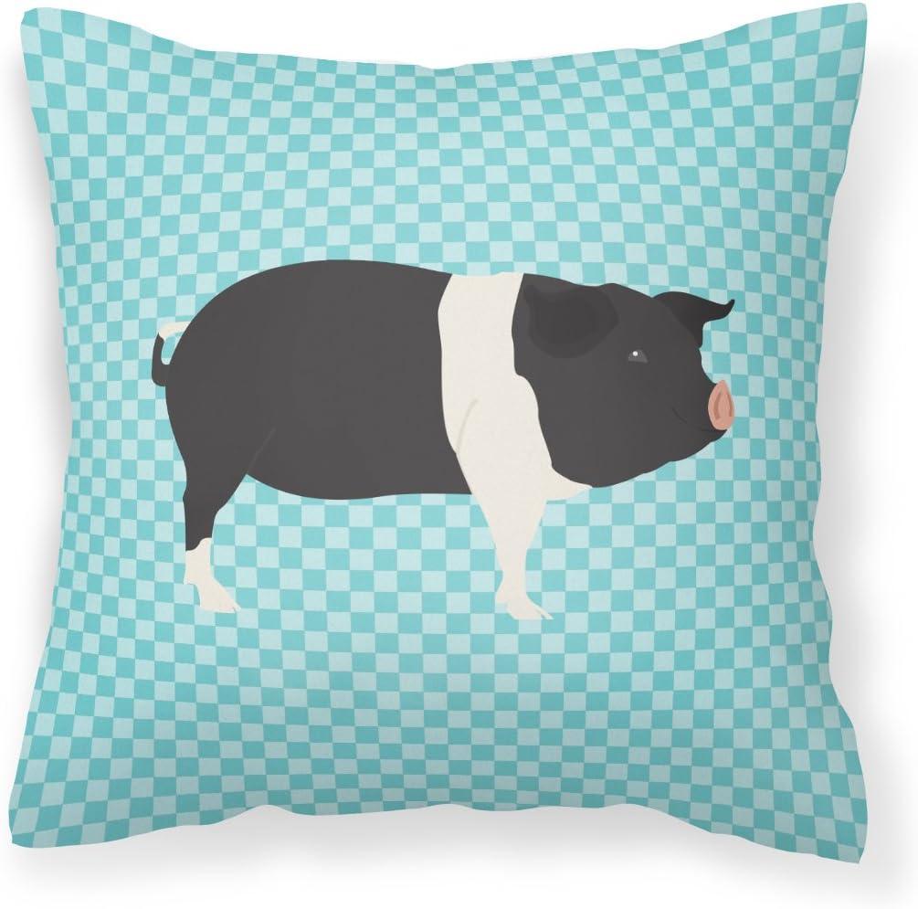 Max 81% OFF Caroline's Treasures BB8113PW1818 Hampshire Blue supreme Pig Fabri Check