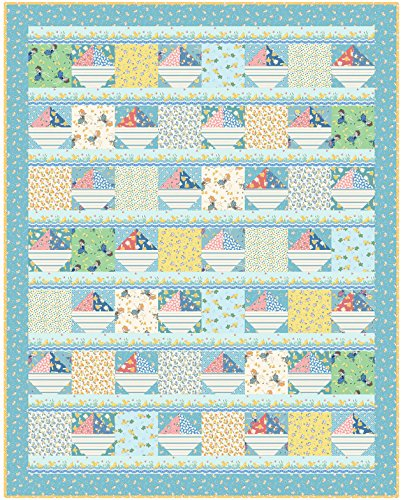 Kim's Cause Collection Animal Quackers Ducks and Boats Quilt Kit Maywood Studio