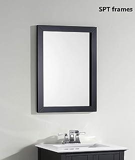 SHRI PARAMHANS TRADERS Black Color Mirror Fiber Wood Framed Wall Mirror Solid Premium Black Water Resistant Synthetic Fibe...