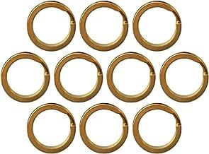 Sharplace 10 stuks sleutelringen 15-32 mm sleutelring messing goud roestvrij staal - 15 mm