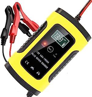 AVEDISTANTE Cargador de Batería Coche Moto 6A 12V LCD Pantalla, Automático Inteligente Mantenimiento de batería con Múltip...