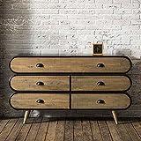 Pharao24 Wohnzimmer Sideboard mit Schubladen Loft Style