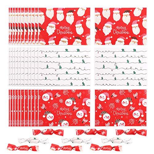 Wachspapier für Lebensmittel 500pcs Geschenkpapier für Weihnachten Nahrung,Bonbonpapier,Schokolade,Karamell-Lutscher-Nougat-Wachspapier,Geschenkpapier für Weihnachts-Bastelkäse, 4,82 x 3,54Zoll