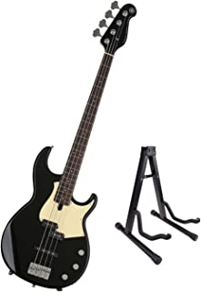 $499 Get Yamaha BB434-BL BB-Series 4 String Bass Guitar, Black with Bolt-on Neck, Alder Body and Guitar Stand