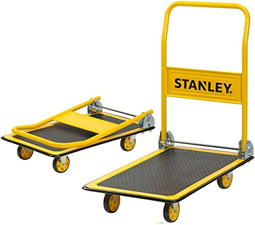 Stanley PC527, Steel Portable Foldable Platform Trolley Truck Dolly Cart, Push trolley used to move Heavy Weight for ...