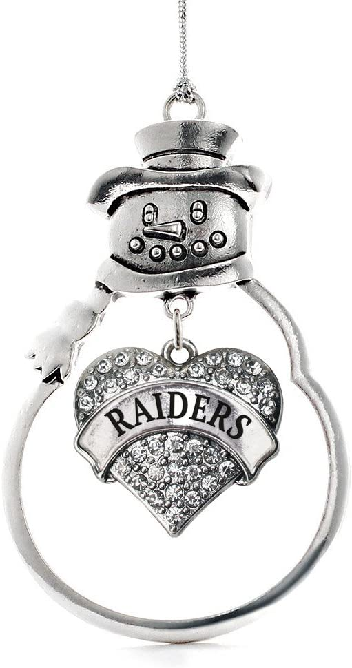 latest Inspired Silver - Raiders Price reduction Charm Ornament Cha Pave Heart