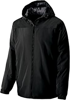 Holloway Youth Bionic Hooded Jacket (Small, Black/Carbon)