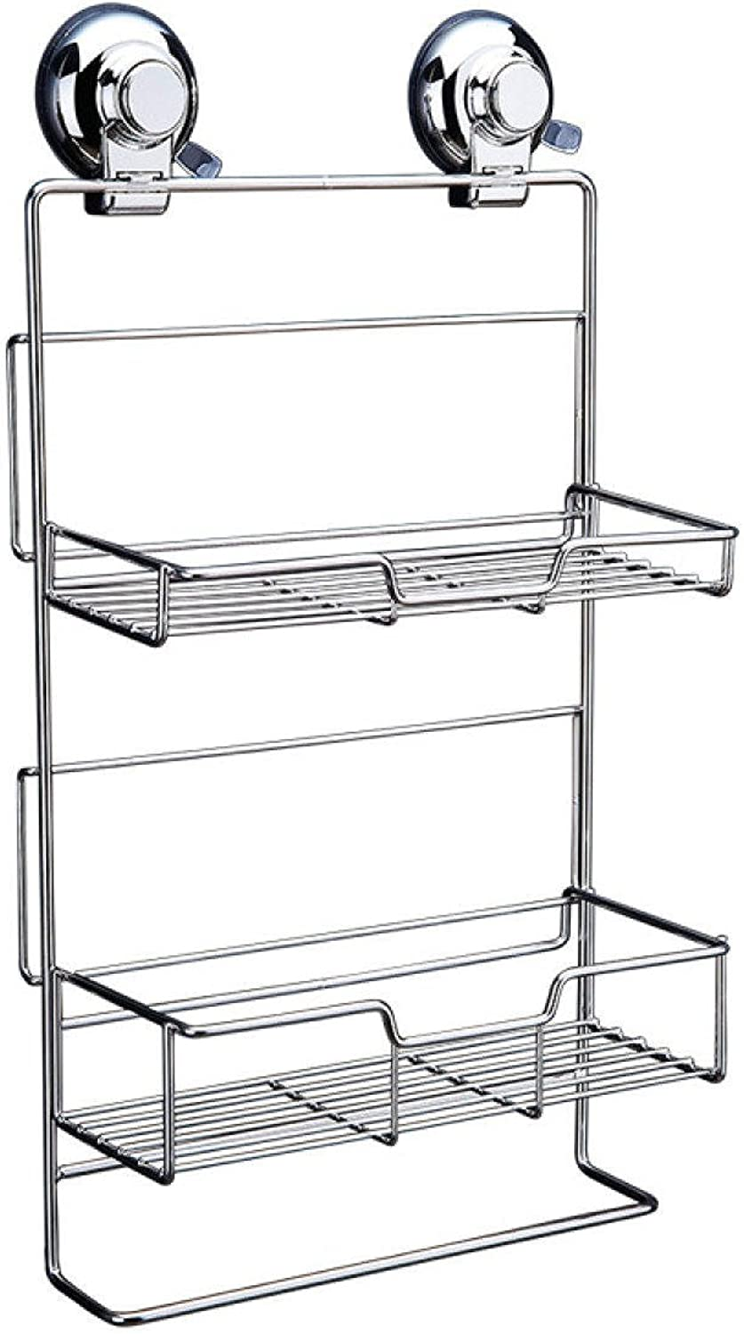 salida de fábrica Uns Uns Uns Storage Rack Storage Shelf Bao Powerful Sucker Shelf Kitchen Succión Wall Storage Rack Free Hanging plata 9.1  3.9  16.5in  Tienda de moda y compras online.