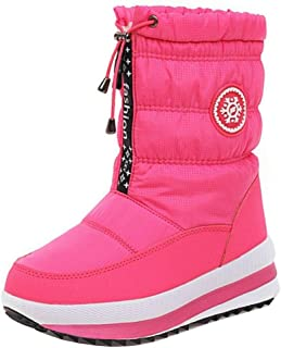 RizaBina Women Casual Short Boots Pull On Booties Wedge Heels