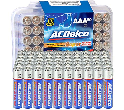 ACDelco 20-Count AAA Batteries, Maximum Power Super Alkaline Battery