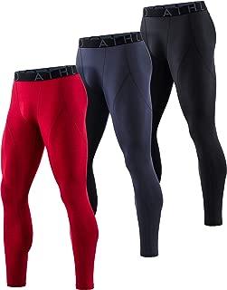 Men's Thermal (Pack of 1, 3) Emboss PantsWintergear Compression Baselayer Sports Leggings