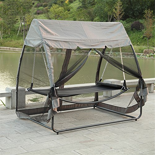 MONEYY Outdoor Hängematte Bett Bettwäsche Person Iron Art Hanger Stuhl wasserdicht Moskito Netto 198 * 55 * 60 cm