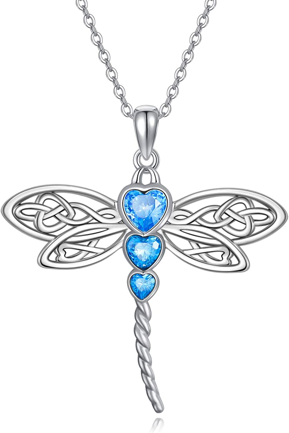 Max 66% OFF RMREWY Dragonfly Necklace 925 2021new shipping free shipping Celtic N Sterling Silver