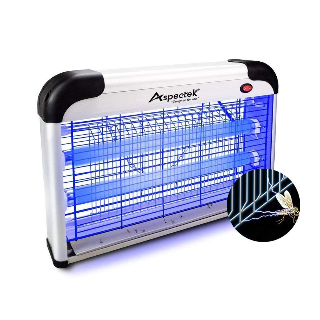 ASPECTEK 20W Upgraded Electronic Bug Zapper, Insect Killer-Mosquito, M
